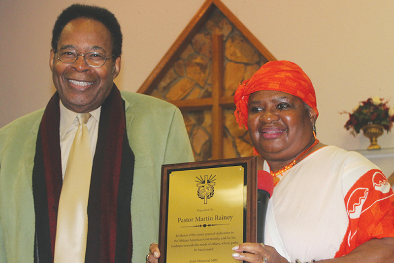 Pastor Rainey Honored St. Petersburg