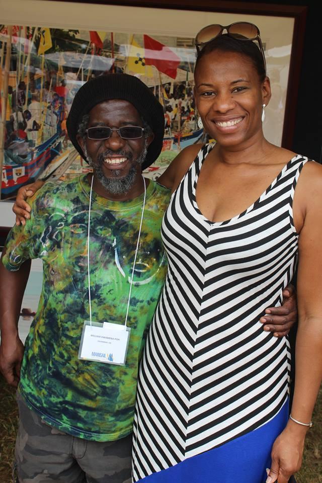 Featured artist William Kwamena-Poh with gallery owner Carla Bristol