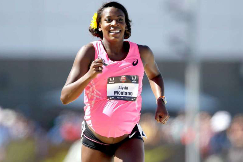 Eight months pregnant, Alysia Montano runs 800 at nationals