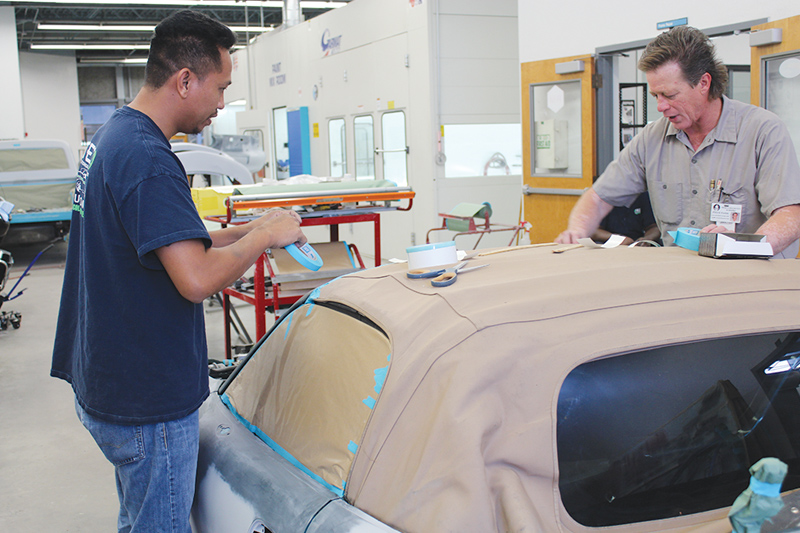 Automotive repair at pTEC