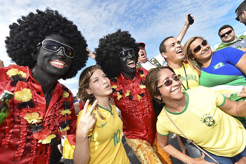 Germany fans spark FIFA probe after wearing black face and afro wigs