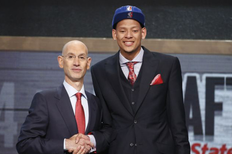 NBA Commissioner honors Isaiah Austin with a ceremonial draft pick