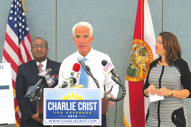 Crist shares political priorities with community