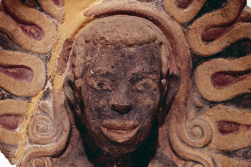 A black man's head protects sanctity of ancient Italian temple