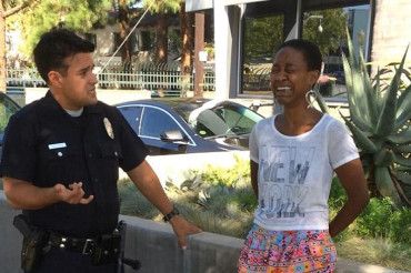 Django Unchained actress claims harrassment by LAPD after kissing white boyfriend