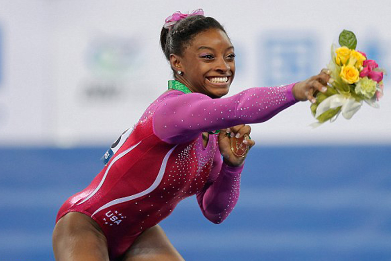 17 Year Old Gymnast Simone Biles Is American Woman With