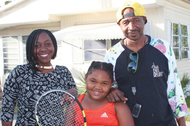 Eight year old excels in tennis and life
