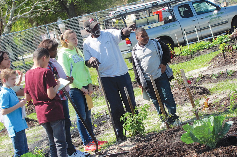 Gardening at John Hopkins Middle School