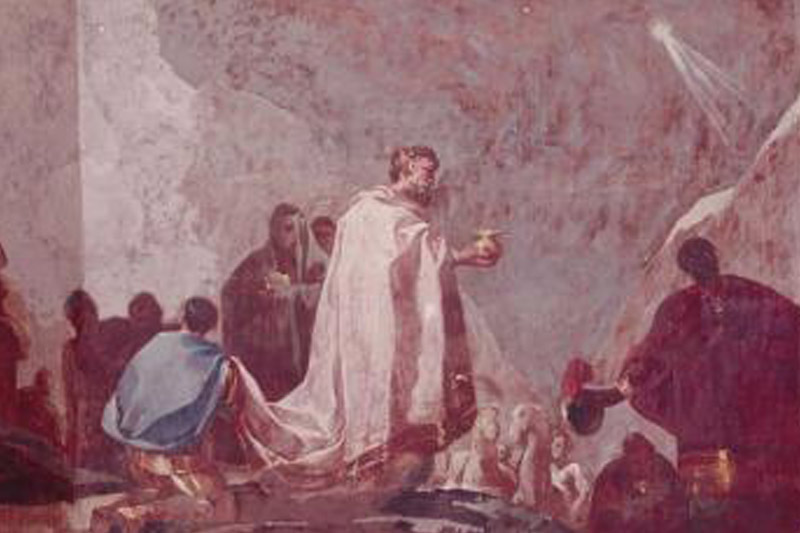 In Goya's Adoration of the Magi, a black king plays an exalted role