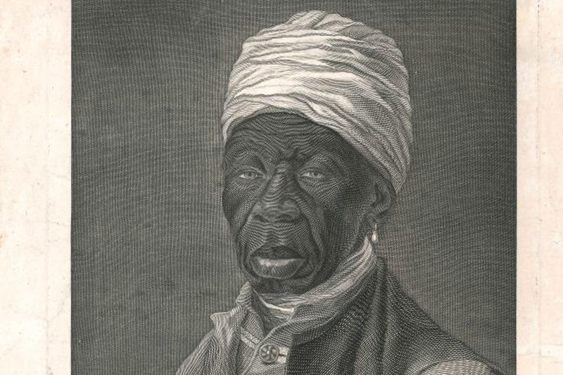 Portrait of a black servant in Eastern Europe