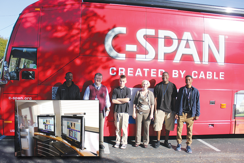 The C-SPAN bus visits MYcroSchool