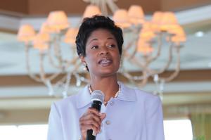 Angela Rouson moderated the summit