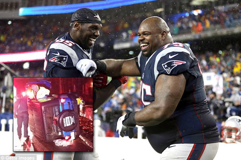 New England Patriots star rescues woman trapped in car crash on way home from AFC championship game
