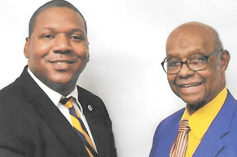Eta Rho Chapter's founder greets new Basileus