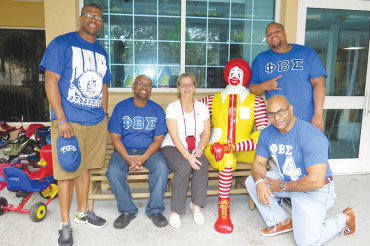 Sigmas help out at Ronald McDonald House