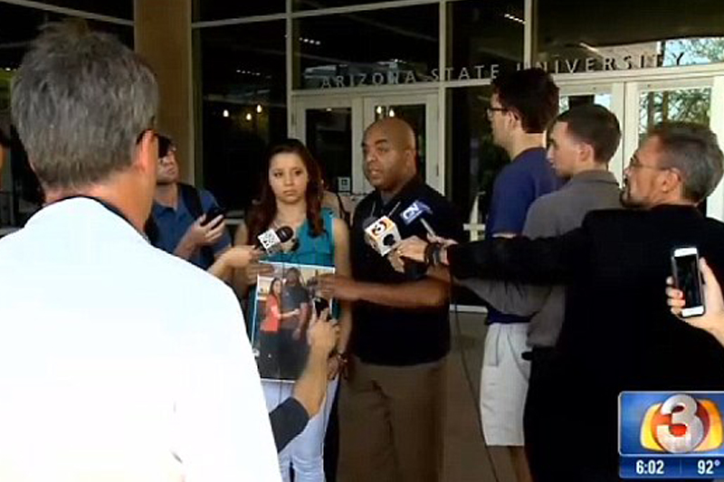 Suspended ASU football player's girlfriend says she made claims of abuse up over jealousy, was never hit