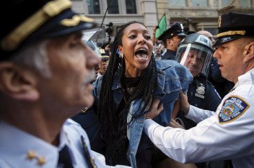Arrests were made as cops and Freddie Gray protesters clash across US