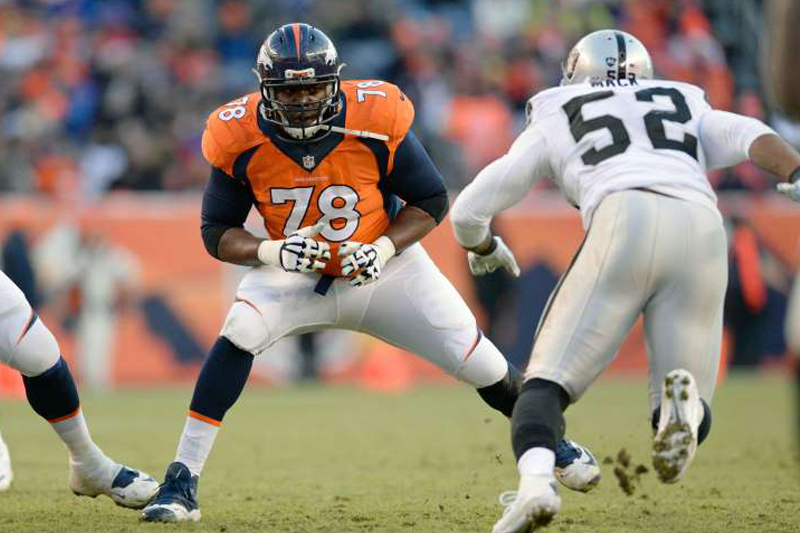 Clady remains anchor of Denver's remodeled O-line