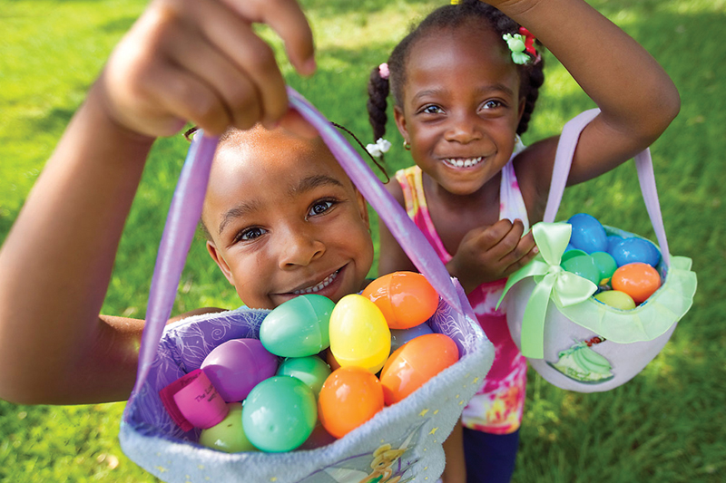 Easter egg hunt for Jordan Park kids