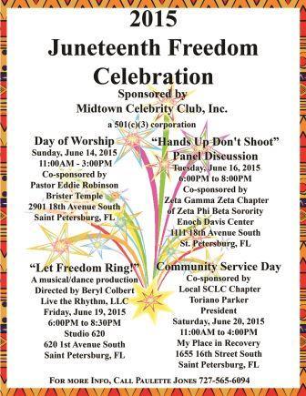 2015 Juneteenth Flyer, Midtown, community