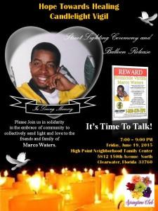 Marco Waters Campaign, vigil, Tambree