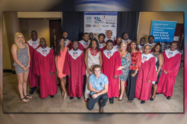 NFL Gospel Choir participates in UN Sport Development for Peace