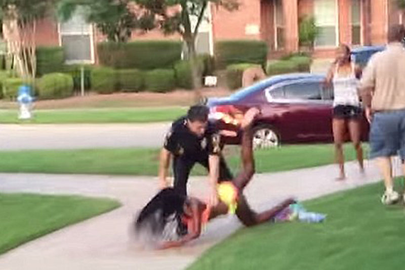 Pool party cop quits: Veteran officer resigns after damning video