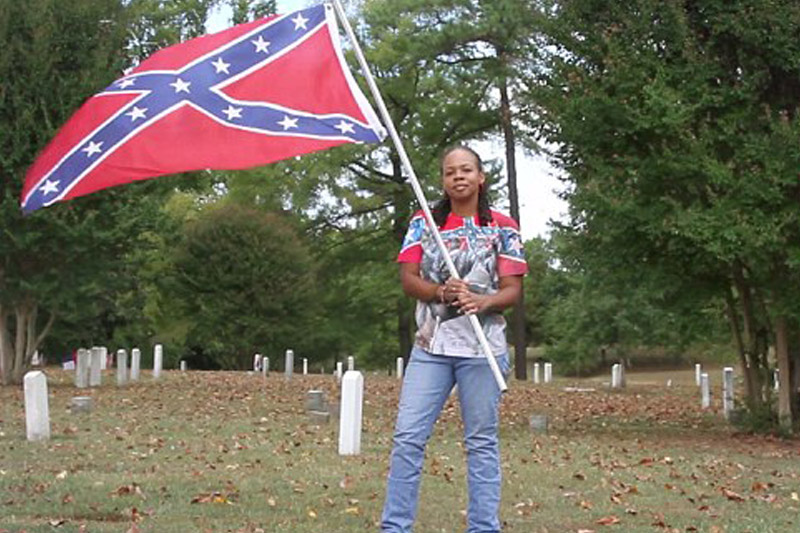 Black woman defends Confederate flag, claims slavery is a choice