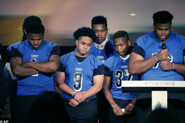 More than 1,000 attend funeral for college football player Christian Taylor, shot dead by rookie cop