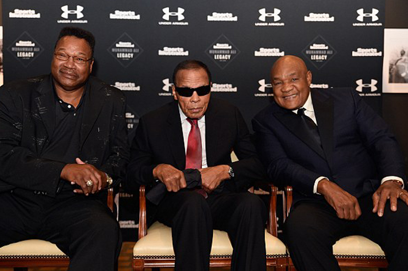 Muhammad Ali supported by Foreman & Holmes for naming of Sportsman Legacy Award
