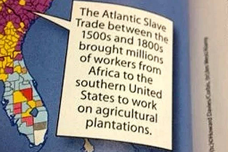 """This is what erasure looks like"": Texas mother shames textbook company into putting slavery back in American history textbook"