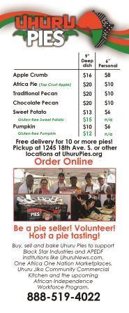 Uhuru Pies, community