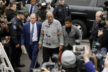 Fight to keep Bill Cosby from Jail: Comedian embraces lawyer after sexual assault charges