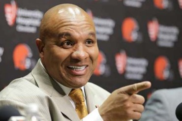 """Hue Jackson takes over lowly Browns: """"I came here to win."""""""