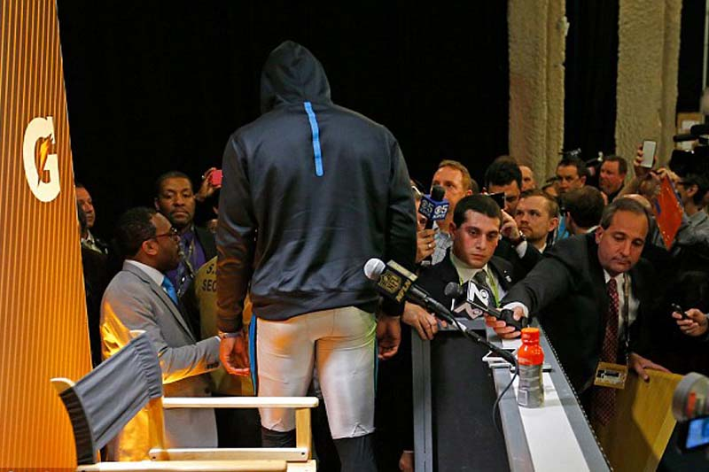 Is the real reason Cam Newton stormed out because of Broncos player's taunting?