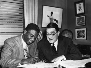 Jackie Robinson, signing, sports