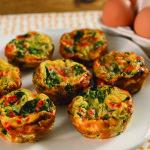 Veggie Frittatas, food, lifestyle