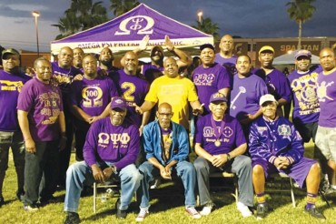 Omegas at the Relay For Life event