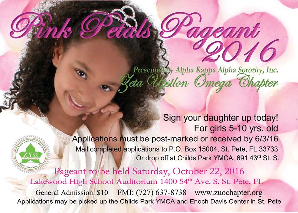 Pink Petals 2016 flyer, featured