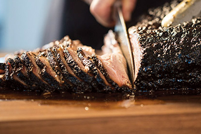 Ancho Chile Rubbed Smoking Beef Brisket, lifestyle