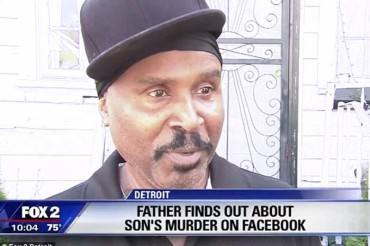 Father learns of son's murder on Facebook: grisly photo of arm hanging out trunk of car goes viral