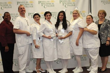 Practical nursing class graduates from PTC