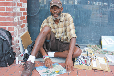 Street artist adds local color