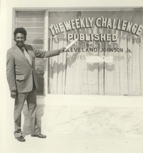 Founder of The Weekly Challenger, Cleveland Johnson, Jr. circa 1975.
