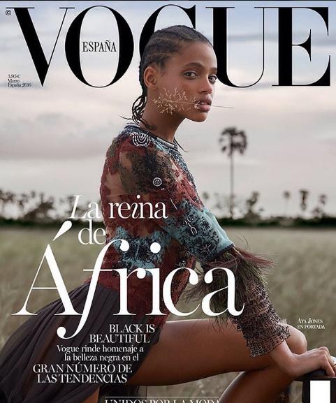 Aya Jones, model, opinion