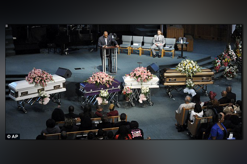 Funeral for four siblings killed by father after mother filed for divorce