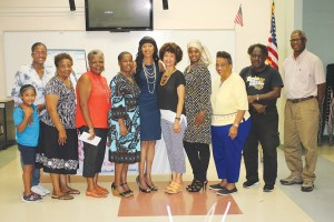 Pauline Riley with the Sistahs of Compassion monthly cancer support group.