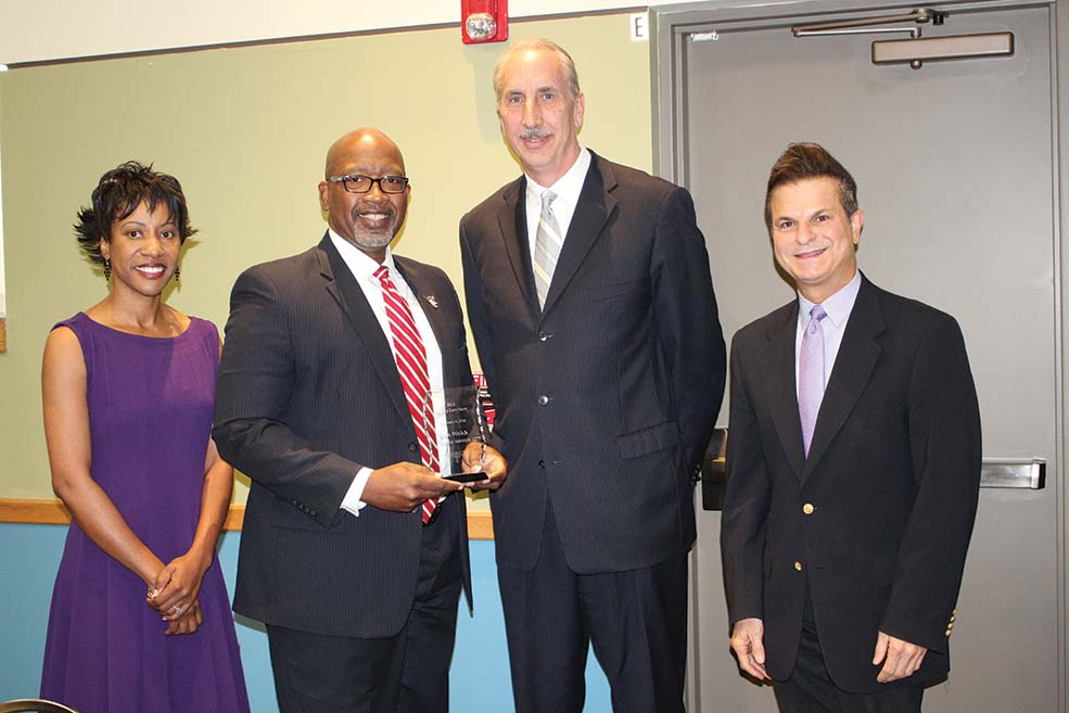 L-R, Karen Davis-Pritchett, Comm. Ken Welch, former Mayor Rick Baker and Rafael Scuillo at an event at Empath Health.