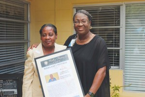 Margaret Pittmon, left, with Dir. of Nursing Marcea McFarlane