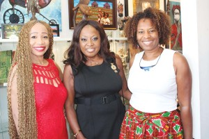 Sonia Noel, Star Jones and Carla Bristol at Gallerie 909